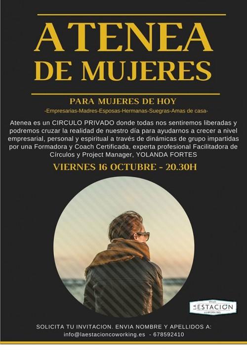 """Invitación al Círculo de Mujeres """"Atenea"""", con Yolanda Fortes."""