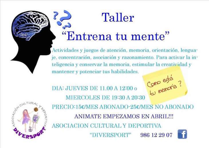 """Taller """"Entrena tu mente"""" en Diversport, con Ana González Somoza"""