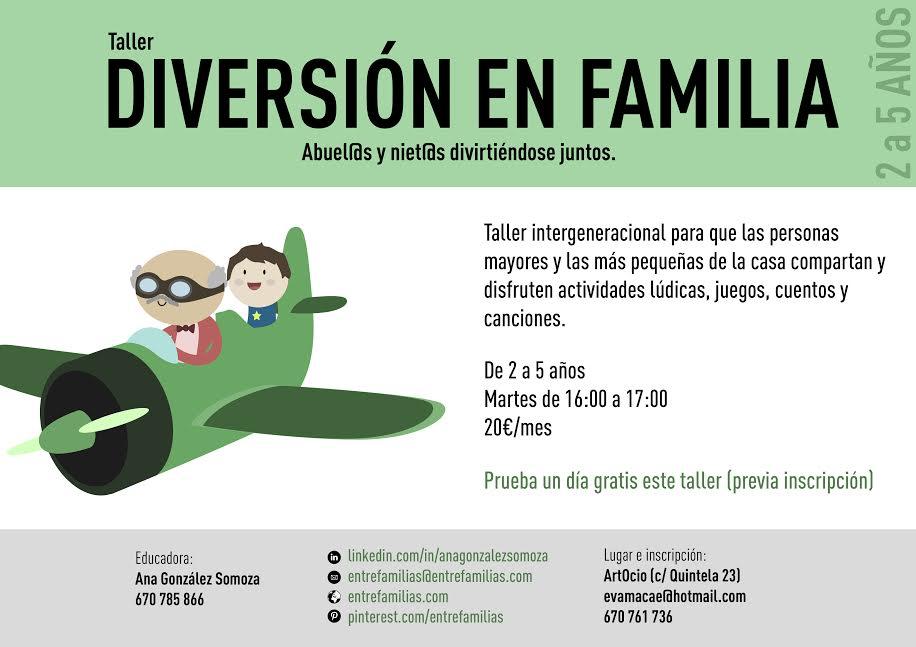 """¿Qué es """"Diversión en familia"""" o Taller de peques y abuel@s?, por Ana González Somoza"""