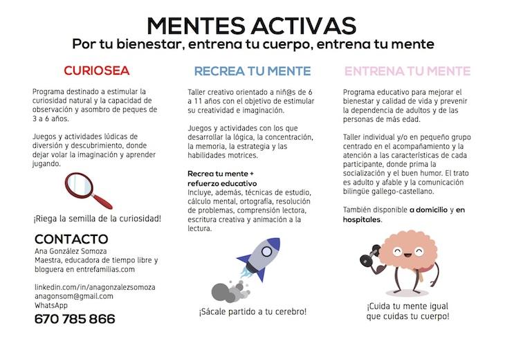 """¿Qué es """"Mentes Activas""""?, por Ana González Somoza"""