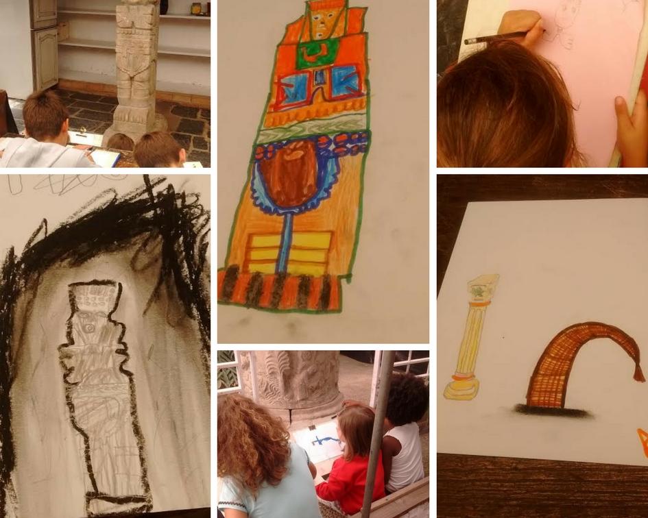 Dibujamos las estatuas que pululan por el jardín de Sales