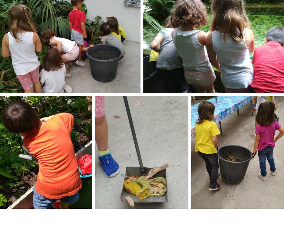 Trabajando en el jardín y eliminando especies invasoras.